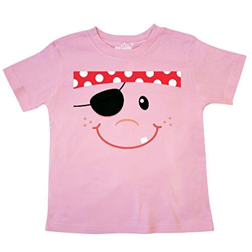 inktastic - Funny Pirate Face Costume Idea Toddler T-Shirt 5/6 Pink -