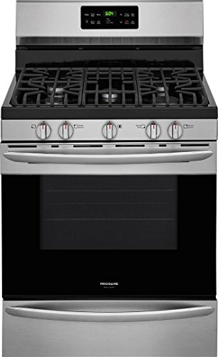 Frigidaire FGGF3036TF Gallery Series 30 Inch Freestanding Gas Range with 5 Sealed Burner Cooktop, in Stainless Steel