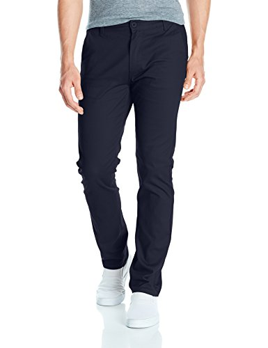 Southpole Men's Flex Stretch Basic Long Chino Pants, Navy (New), 30X30 ()