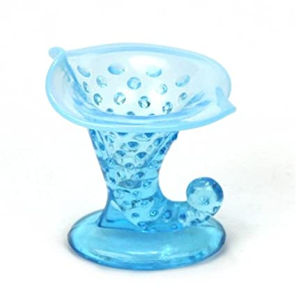 Amazon Hobnail Blue Opalescent By Fenton Glass Vase Horn Of