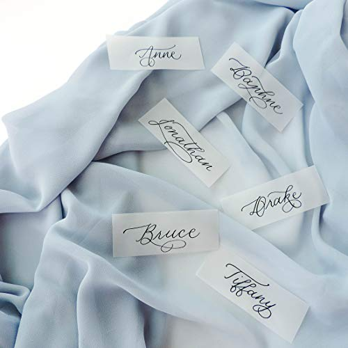 (UNIQOOO 3.5 x 1.5 inch Pre-Cut Vellum Paper Wedding Place Cards   Blank Translucent Bridal Escort Cards   Seating Cards   Guest Name Cards, Gift Tags, DIY Calligraphy, Pack of 400)