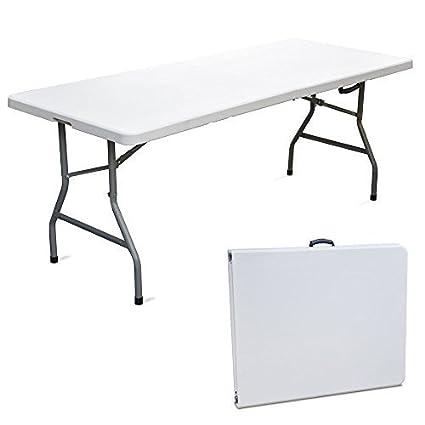 Vendita Tavolino Pieghevole.Tavolo Tavolino Pieghevole Sagra Giardino Fiera Mercato Pic Nic Campeggio In Dura Resina 180x75x74