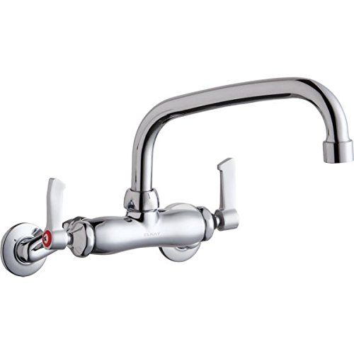 Elkay Foodservice LK945TS08L2T Chrome Adjustable Centers Wall Mount Faucet with 8
