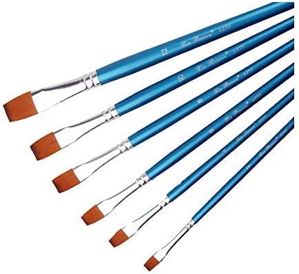 絵筆 セット 良い 快適なナイロンウール 木製のペン水彩ペンアートの絵画 初心者、アーティスト、学生に適しています (Color : Blue, Size : FREE SIZE)