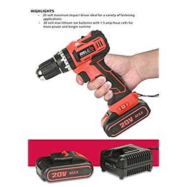 iBELL BM18-60 20V Brushless Impact Driver Drill (Cordless) with 2 Batteries, Charger, Case and Screw Driver Bit - 1 Year Warranty. 12