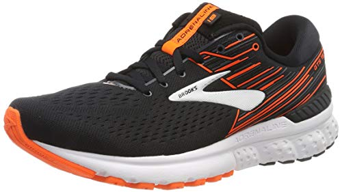 Brooks Men's Adrenaline GTS 19 Black/Orange/Silver 10