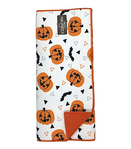 Happy Halloween Pumpkins & Bats Festive Holiday Dish Drying Mat 15