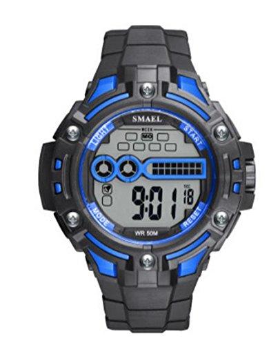 ZXZ-GO Relojes Deportivos Reloj Resistente al Agua PU Número de Correa de visualización 30
