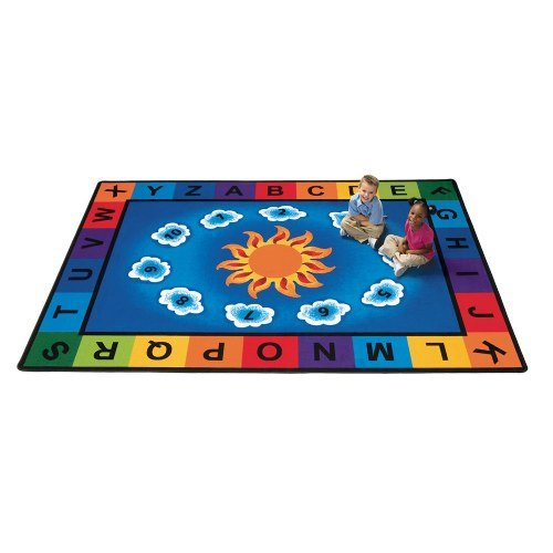 "Literacy Sunny Day Learn and Play Kids Rug Rug Size: 8'4"" x"