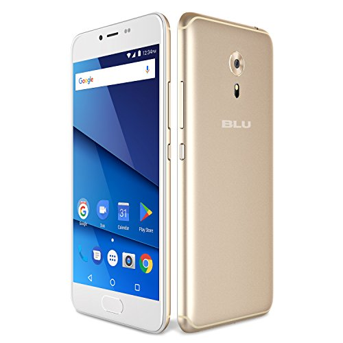 BLU R1 HD 2018 Factory Unlocked Phone - 5.2Inch Screen - 16GB - Gold (U.S. Warranty)