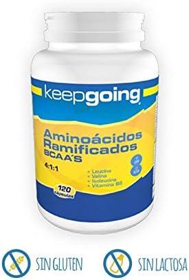 Keepgoing Aminoácidos ramificados BCAA · Bote de 120 cápsulas ...