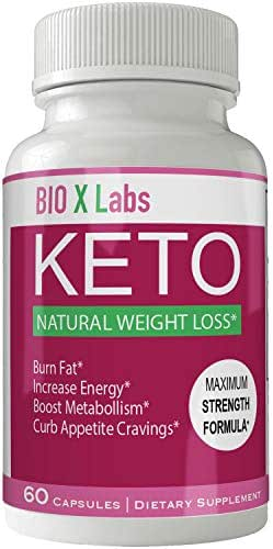Bio X Labs Keto Diet Pills Advance Weight Loss Supplement Appetite Suppressant Natural Ketogenic 800 mg Formula with BHB Salts Ketone Diet Capsules to Boost Metabolism, Energy and Focus
