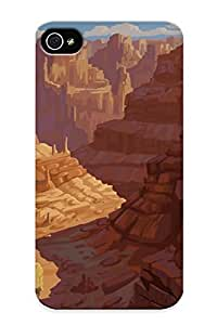 Inthebeauty Anti-scratch And Shatterproof Cocoon In The Canyons Phone Case For Iphone 4/4s/ High Quality Tpu Case