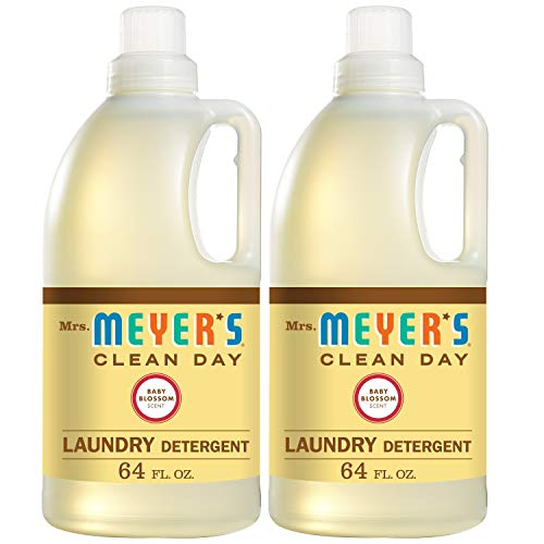 Mrs. Meyers Laundry Detergent, Baby Blossom, 64 fl oz (2 ct)