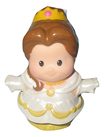 Fisher Price Little People Replacement Disney Princess Interactive Figures, Belle in White Dress in PARTS (Belle And The Beast Little People)