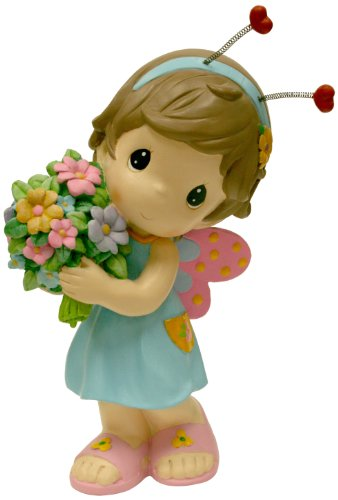 Precious Moments Design International Group Butterfly Fairy with Flower Statue, 12-Inch