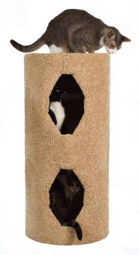 Molly and Friends 2-Story Condo Premium Handmade Cat Tree, Beige