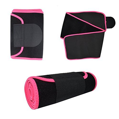 Waist Trimmer,Waist Wrap Waist Trimmer for Women Ab Belt Waist Trainer Adjustable Waist Trimmer Belt for Men Sauna Suit to Loose Weight and Keep Fit(Red) by FOISON (Image #1)