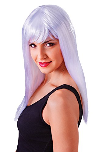 Retail Zone Women's Shoulder Length Wig Fringe X Men Storm Fancy Dress Adult One Size (Storm X Men Costume White)