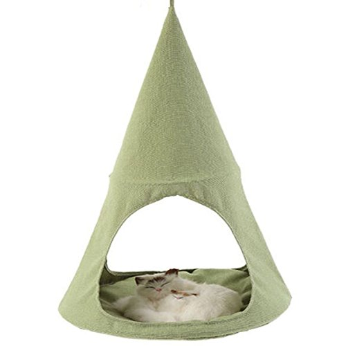 IHClink Cat Hammock Pet Bed Tent Comfortable Hanging Perch Pet Hammock Cradle for Cats/Small Dogs (Green)