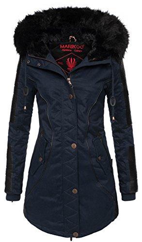 63cd9758b2c787 Marikoo Designer Damen Winter Parka warme Winterjacke Mantel Jacke B372:  Amazon.de: Bekleidung