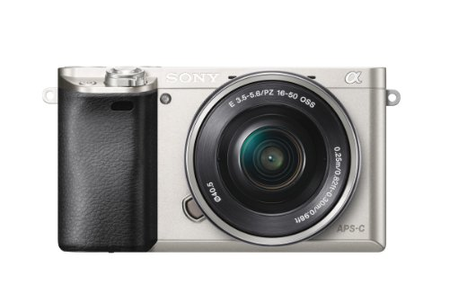 Sony A6000 Interchangeable Lens Digital Camera - Silver (24.3MP, SELP1650 Lens) by Sony