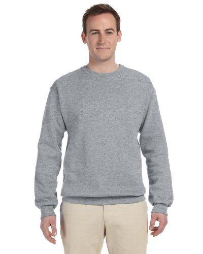 Mens Soft Crewneck Sweatshirt By Jerzees  Regular And Big   Tall Sizes   3X Large  Oxford