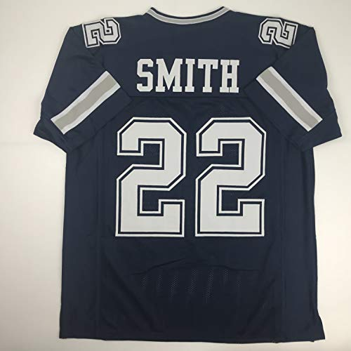 brand new 3f84a 8d1cf Unsigned Emmitt Smith Dallas Dark Blue Custom Stitched Football Jersey Size  Men s XL New No Brands Logos