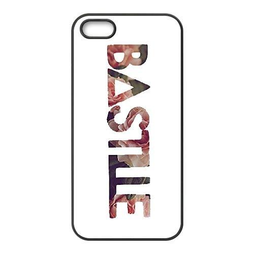 Bastille 006 coque iPhone 5 5S cellulaire cas coque de téléphone cas téléphone cellulaire noir couvercle EOKXLLNCD22002