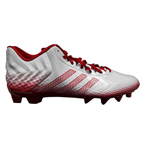 adidas Men's Crazyquick Low Football Cleats (9, Running White/Unired/Unired)