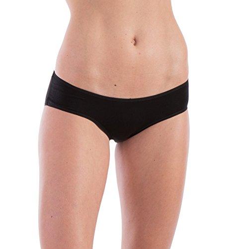 Woolly Clothing Women's Merino Hiphugger Brief - Moisture Wicking, Anti-Odor, Casual Athletic wear M (Soft Hip Hugger)