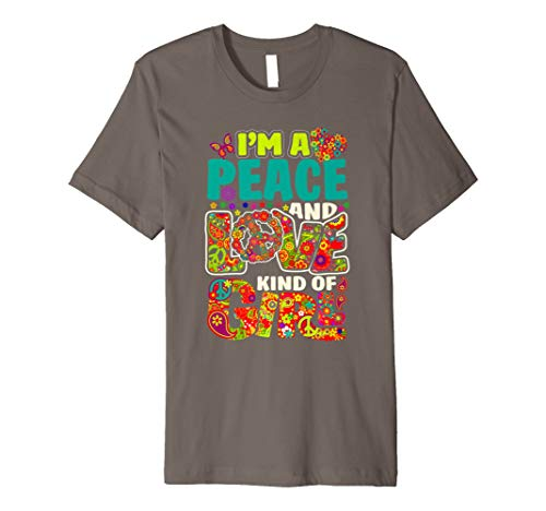Hippie Flower Power Shirt Peace & Love Retro 60s 70s T-Shirt