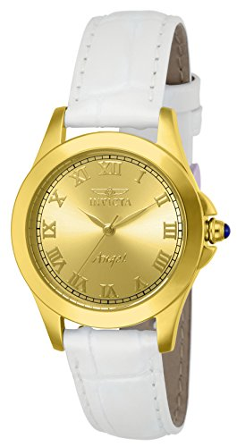 Invicta Women's 14805 Angel Analog Gold Ion-Plated Watch with Interchangeable Leather Bands ()