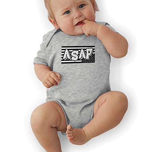 Baby Clothes, ASAP Rocky American Organic Baby Toddler Bodysuit Baby Clothes Gray