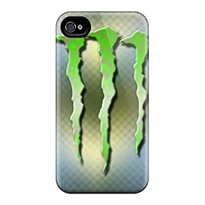 Scratch Resistant Cell-phone Hard Cover For Iphone 4/4s With Custom Fashion Monster Pattern SherriFakhry