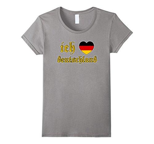 [Women's Oktoberfest I Love Germany Ich Liebe Deutschland T Shirt Small Slate] (German Beer Girl Costume Ideas)