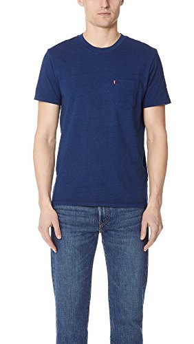 Mens Levis Red Tab (Levis Red Tab Men's Sunset Tee, Indigo, Large)