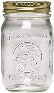 product image for Ball Golden Harvest Regular Mouth 'Vintage Fruit Design' Mason Jars (12 Pack), 1 pint, Clear