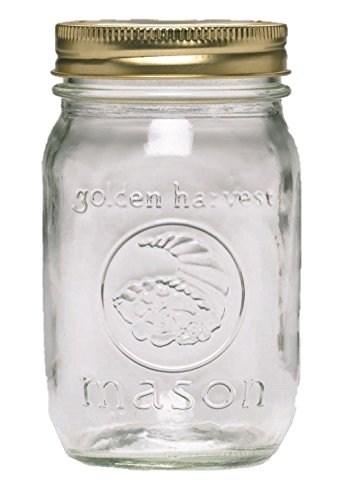 Ball Golden Harvest Regular Mouth 'Vintage Fruit Design' Mason Jars (12 Pack), (Harvest Design)