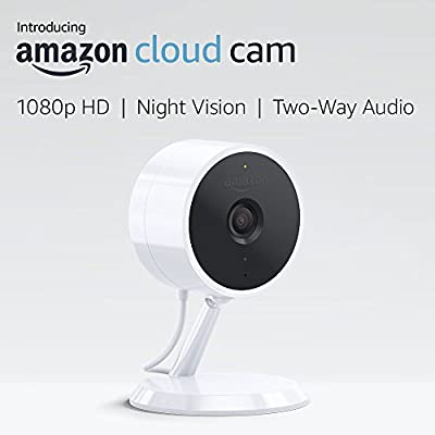 Amazon Cloud Cam Indoor Security Camera, Works with Alexa