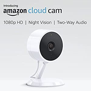 Amazon Cloud Cam Indoor Security Camera, Works with Alexa