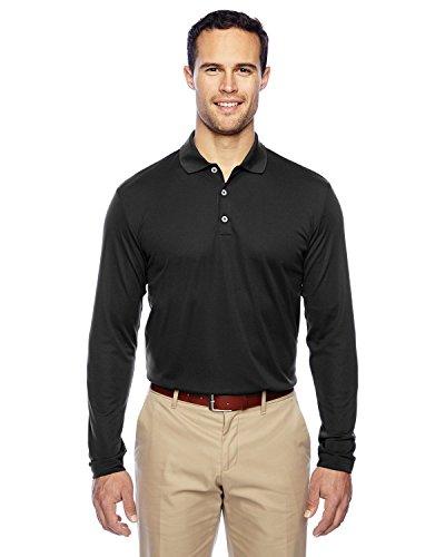 adidas Golf Mens Climalite Long-Sleeve Polo (A186) -Black/Whit -M