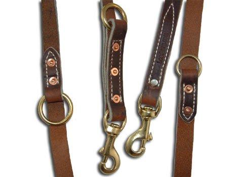 Leerburg Amish Leather Police Leash, 6' Long 3/4'' Wide, Black by Leerburg (Image #1)