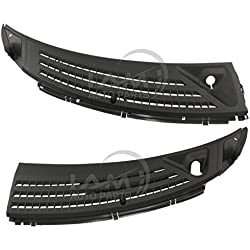 IAMAUTO 91939 Wiper Cowl Grille Panel Left & Right Set for 2004 2005 2006 2007 2008 Ford F-150 (Includes Retainers, Washer Nozzles, and Hoses)