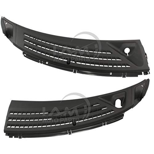 IAMAUTO 91939 Wiper Cowl Grille Panel Left & Right Set for 2004 2005 2006 2007 2008 Ford F-150 (Includes Retainers, Washer Nozzles, and - F150 Ford Accessories Parts
