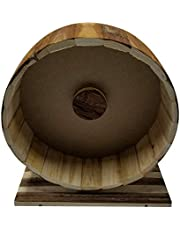 Dehner Akcesoria dla gryzoni drewniane koło biegowe Shift, ok. 29 x 14 x 31 cm, drewno, naturalne