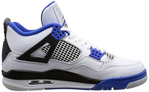 quality design 9aa02 30950 ... Jordan Nike Menns Luft 4 Retro Basketball Sko Hvit, Spill Royal-svart  ...