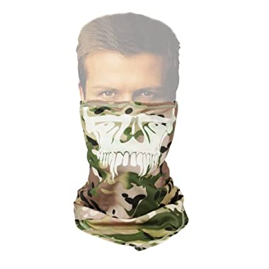 Canis Latran Tactical Ghost Skull Half Face Mask Hood in CP Camouflage Color