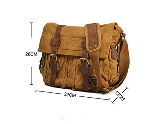 Vintage Green Travel Totes Briefcases Shoulder Hysh Canvas Business Computer Crazy Men's Bags Casual Bags Horseskin ScqTwWBa
