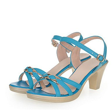 RTRY La Mujer Sandalias Gladiator Comodidad Verano Vaca Azul Beige Casual Plana Negra US8.5 / EU39 / UK6.5 / CN40